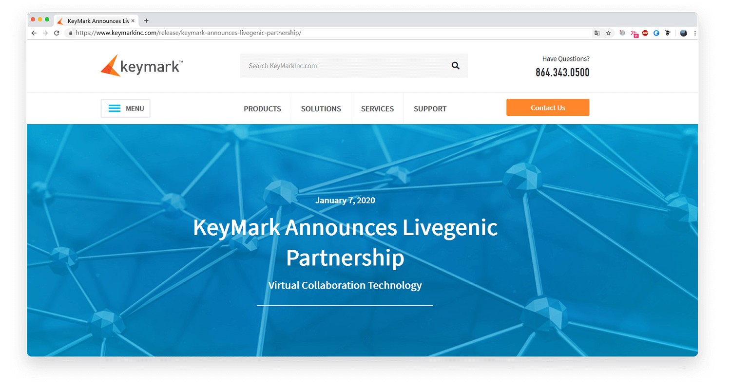 KeyMark Announces Livegenic Partnership